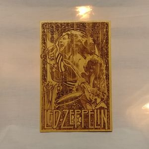 Led Zepplin Wood Burning